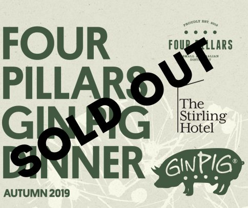 Gin Pig Dinner whats onSOLDOUT
